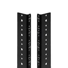 NavePoint 8U Vertical Rack Rail Pair DIY Kit with Hardware