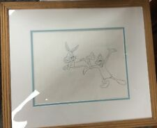 "Bugs Bunny & Daffy Duck ""Thtop The Music"" Production Drawing Framed Warner Bros"