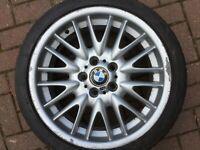 "BMW E46 3 SERIES MV1 STYLE 72 M SPORT 18"" FRONT ALLOY WHEEL & 6MM TYRE 2229145"