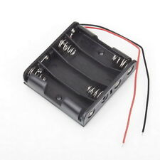 Battery Box Slot Holder Case for 4 Packs Standard AA 2A Batteries Stack 6V ZX