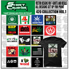 420 vol1 -VECTOR CLIPART- SCREEN PRINT/ VINYL CUTTER/ EPS TSHIRT DESIGNS CD