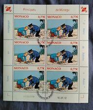feuille de 6 Timbres Monaco : TINTIN Hergé KUIFJE de 2012 Trésor de Rackham