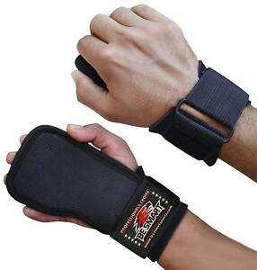 WRIST STRAPS WRAPS GRIP WEIGHT LIFTING TRAINING GYM BAR LIFT SUPPORT GLOVES HOOK