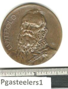 (pgasteelers1)Goetz Medal Opus #015 Prince Ruler Luitpold Baveria 1906  BZ 38mm