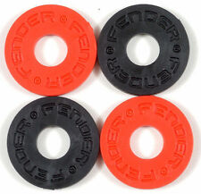Fender Strap Blocks - 2 Pairs, Black & Red