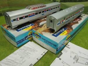 Athearn H0 US Panoramawagen + Postwagen Amtrak mit OVP  (WH) A0793