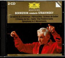 Bernstein Conducts Stravinsky (CD, 1994, 2 Discs, Deutsche Grammophon) W Germany