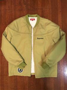 Supreme Thrasher Poplin Crew Jacket sz Medium Pea Green