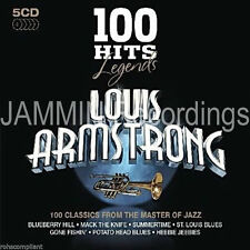 LOUIS ARMSTRONG - 100 Hits Legends - 5 CD Box Set