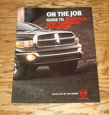 Original 2004 Dodge Ram Truck On The Job Sales Brochure 04 Pickup