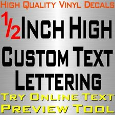 "Personalized 1/2"" Custom Text Name Vinyl Decal Sticker Car Wall 16x Lettering"