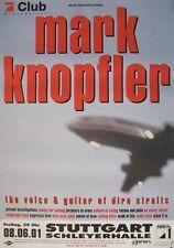 "MARK KNOPFLER TOUR POSTER ""TOUR 2001"" DIRE STRAITS"