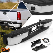 For 99-07 Silverado/Sierra Direct Replacement Fleetside Rear Step Bumper Chrome