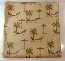 Tropical Shower Curtain Waterproof Fabric Bathroom Drape with12 Hooks Polynesian