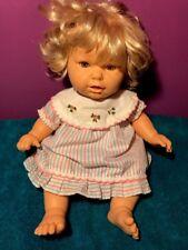 "Berjusa Rooted Blonde Hair Baby Doll 20"" Spain Real Lifelike Realistic Vintage"