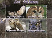 Benin 2014 CTO Owls Barn Owl 4v M/S Birds of Prey Stamps