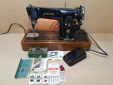 Vintage Singer 201k Electric Sewing Machine With Accessories