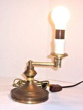 Vintage Heavy Brass Adjustable Swing Arm Desk, Table Lamp,Switch on Cord ,Works