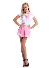 XL Sexy Women School Girl Uniform Sailor Suit Short Sleeve Romper Skirt Costumes