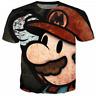 New Fashion Women/Men Super Mario 3D Print Casual T-Shirt TK192