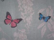 "SANDERSON CURTAIN FABRIC DESIGN ""Wisteria & Butterfly"" 1.1 METRES SEASPRAY/MULTI"