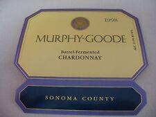 Wine Label: MURPHY GOODE 1998  Chardonnay Sonoma County California