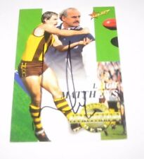 "Hawthorn - Leigh Matthews signed Select Australia ""Jezza's Best"" Footy Card"