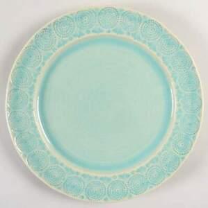 Anthropologie Old Havana Mint Dinner Plate 9499084