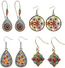 Luxe Bohemian Earrings Lot Earrings Dangle Earrings Set Vintage Style Boho Chic