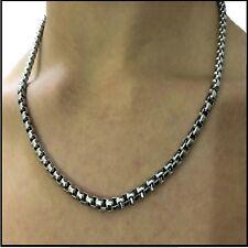 Collana catenina in acciaio inox da uomo donna girocollo maglia box 50 cm x 4 mm