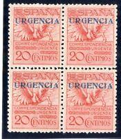 Sellos de España 1930 nº 489 Pegaso Bloque de cuatro Nuevo