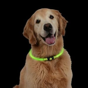 NiteHowl LED Safety Necklace, Universal, Reusable Visibility for Pets * Green *