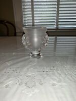 Lalique France Glass Art St Cloud Acanthas Leaf Vase