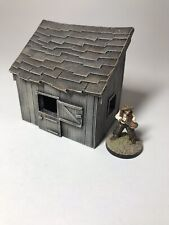 28mm scale Wooden Lean-to Cabin
