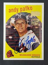 Andy Pafko 2001 Team Topps Legends Autograph