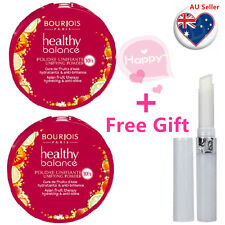 TWO BOURJOIS Healthy Balance Compact Powder 56 Light Bronze+Free Gifts
