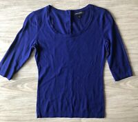 Banana Republic Soft Knit Blue Sweater Shirt 3/4 Sleeves Size XS Buttons in Back