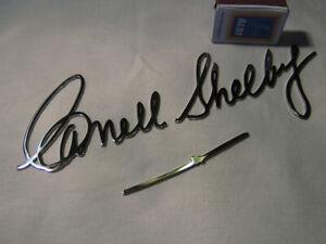 Carroll Shelby Signature, Chromed Metal