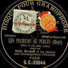 """LUCETTE KORSOFF -SOPRAN- """"Les Pecheurs de Perles"""" Dans le ciel sans..  G&T S9590"""
