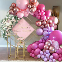 Rose Gold Balloon Garland Arch Kit Birthday Wedding Baby Shower Party Decoration