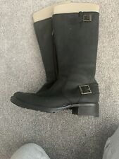 Timberland Black Soft Leather Boots 39 (6)