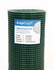 Drahtgitter Volieren Gartenzaun Maschendraht 4-eck 25m x 50cm grün 12x12mm