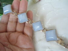 VINTAGE Moonglow Lucite Light Blue Stones BRACELET ChunKy