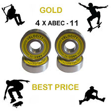 4 Gold Abec 11 Wheel bearings Skateboard stunt scooter inline Roller skate 9