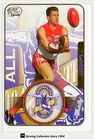 2005 Select AFL Dynasty All Australia Team Card AA3 Leo Barry (Sydney)