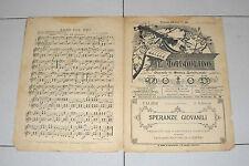 Spartito IL MANDOLINO 1896 SPERANZE GIOVANILI chitarra Liberty mandolin