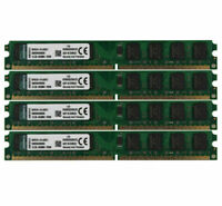 For Kingston 4pcs 2GB Intel PC2-6400 DDR2 800Mhz CL6 DIMM Memory RAM Desktop @MT