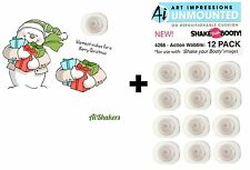 Art Impressions Shaker Stamps & Action Wobbles - Snowman, Christmas, Presents