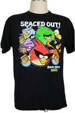 Men's Large Black T-Shirt, Colorful, Angry Birds Space, Spaced Out T-Shirt