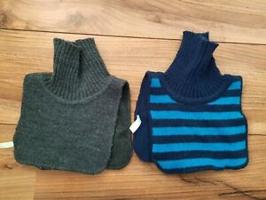 2 x H&M Boys Girls Unisex Knit Polo Neck Collar Warmer 1-3 Years